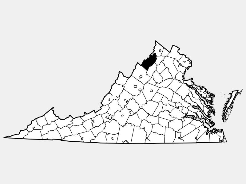 Shenandoah County locator map