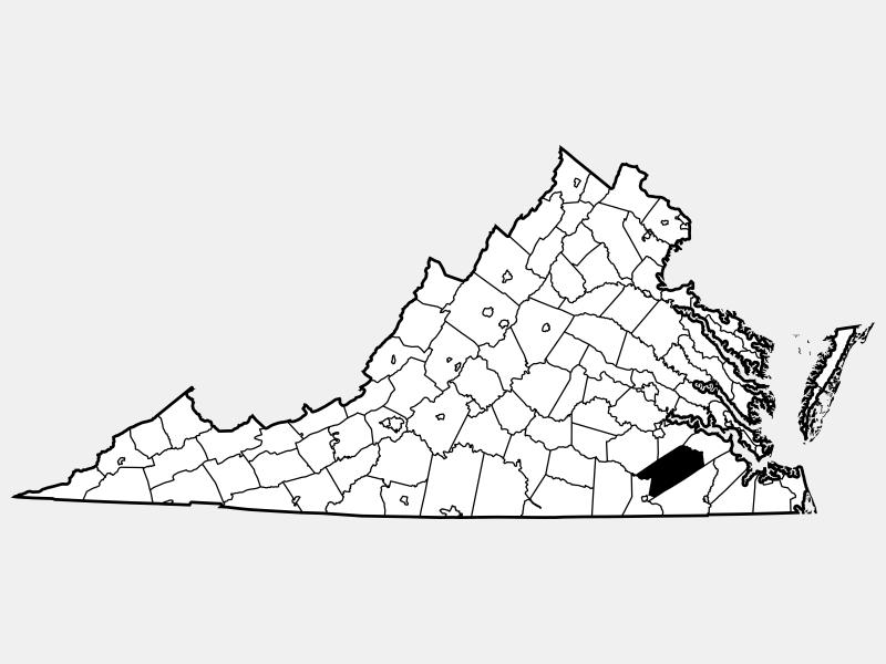 Sussex County locator map