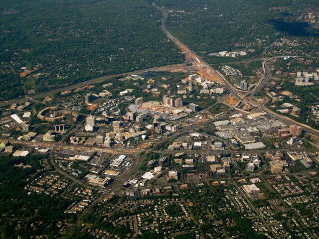Aerial shot of Tysons Corner  Virginia 2010 image