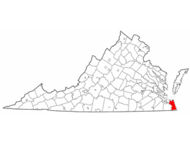 Virginia Beach locator map