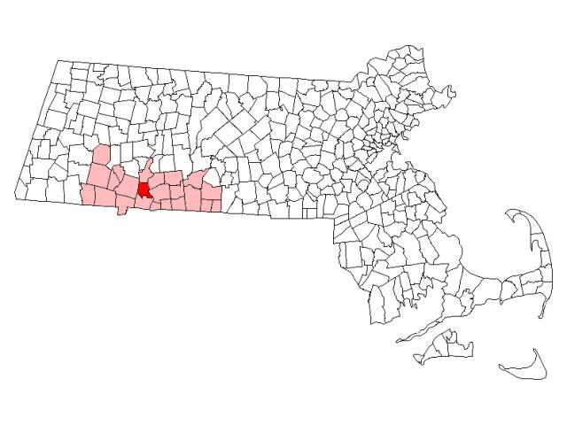 West Springfield locator map
