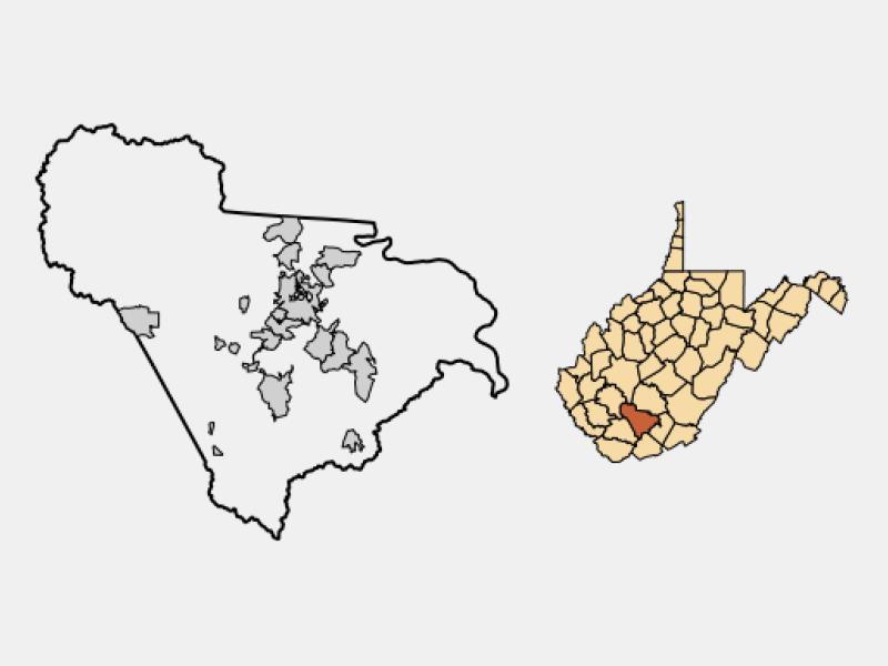 Beckley locator map
