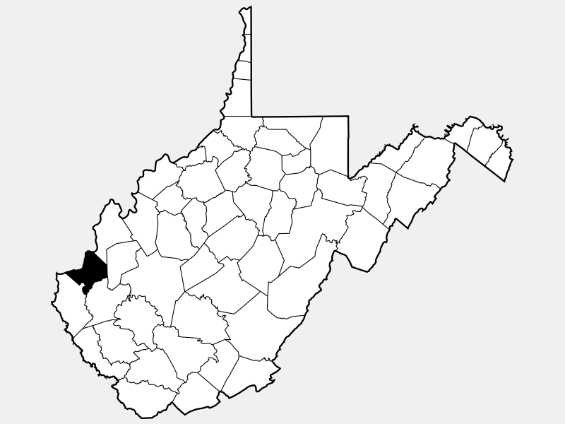 Cabell County locator map
