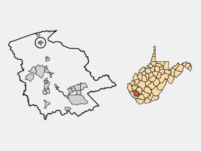 Chapmanville locator map