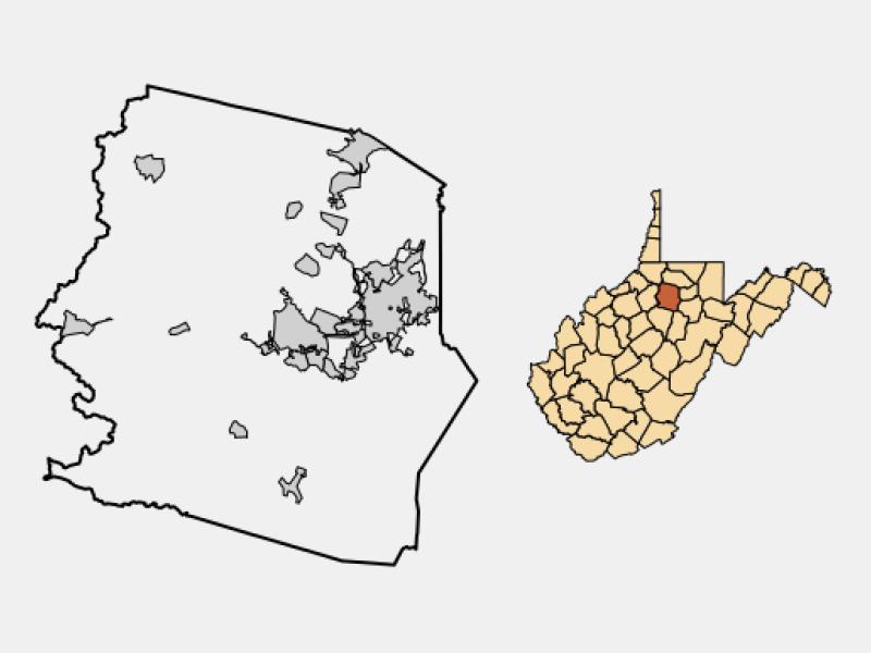 Clarksburg locator map