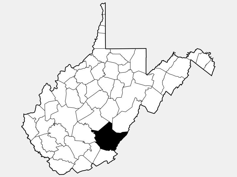 Greenbrier County locator map