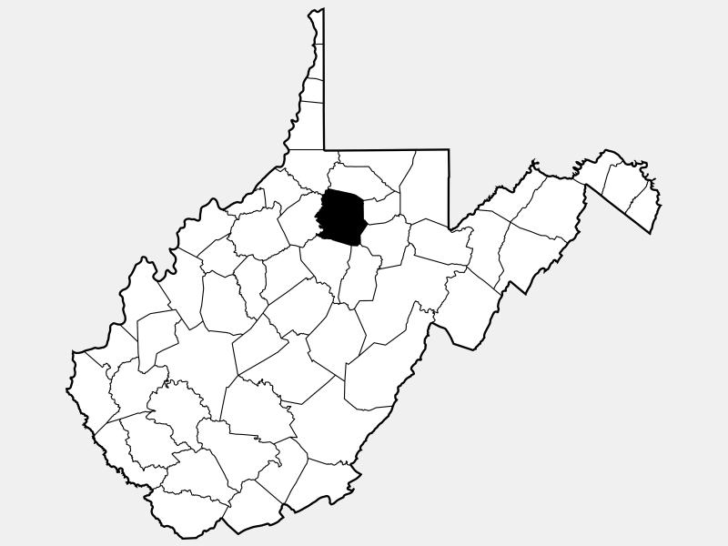 Harrison County locator map