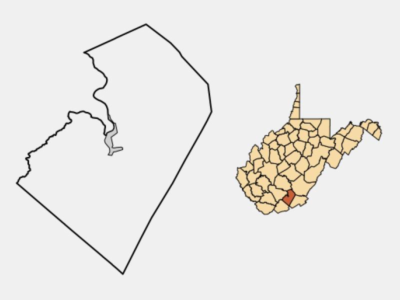 Hinton locator map