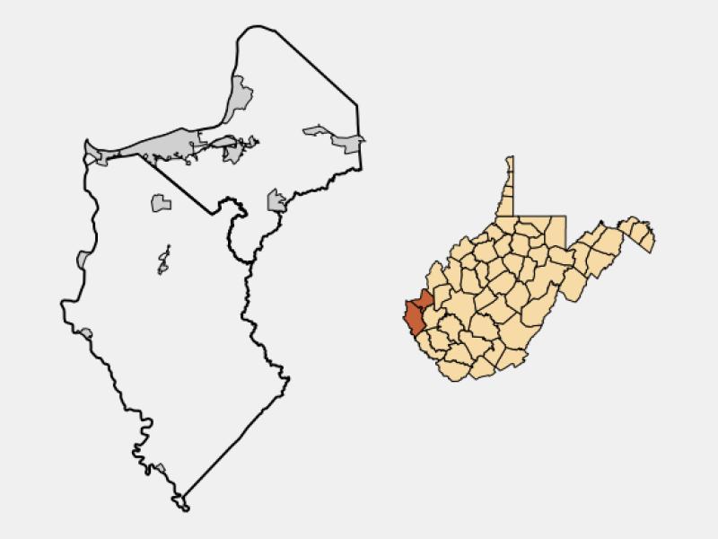 Huntington locator map