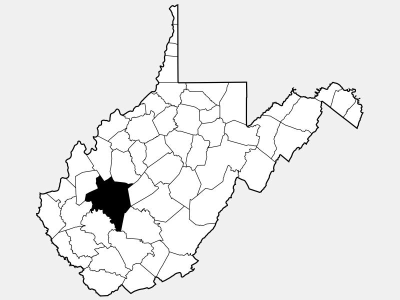 Kanawha County locator map