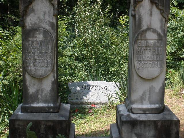 Two Hatfield Headstones image