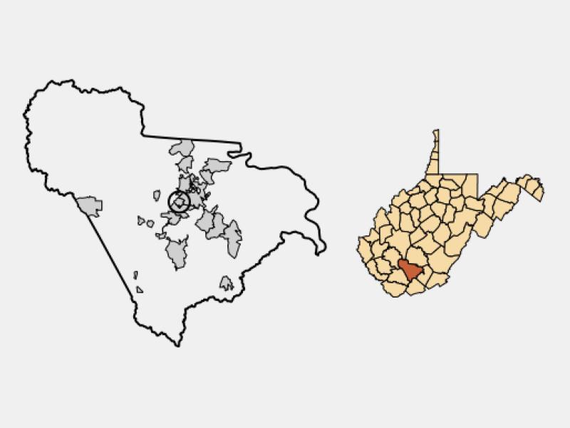 Mabscott locator map