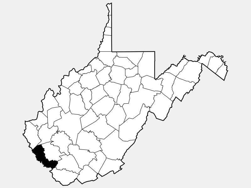 Mingo County locator map