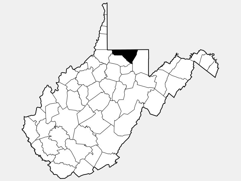 Monongalia County locator map