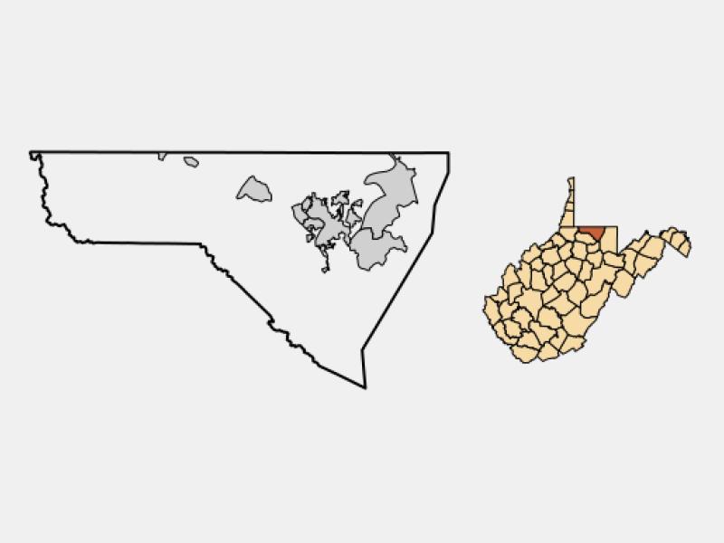 Morgantown locator map