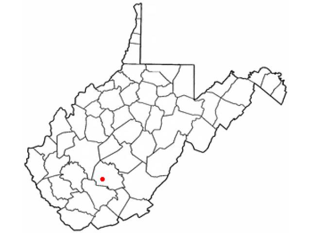 Oak Hill locator map