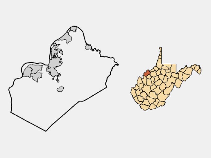 Parkersburg location map