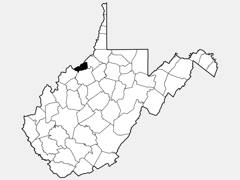 Pleasants County locator map