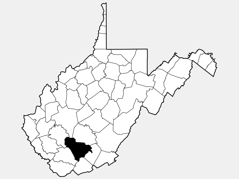 Raleigh County locator map