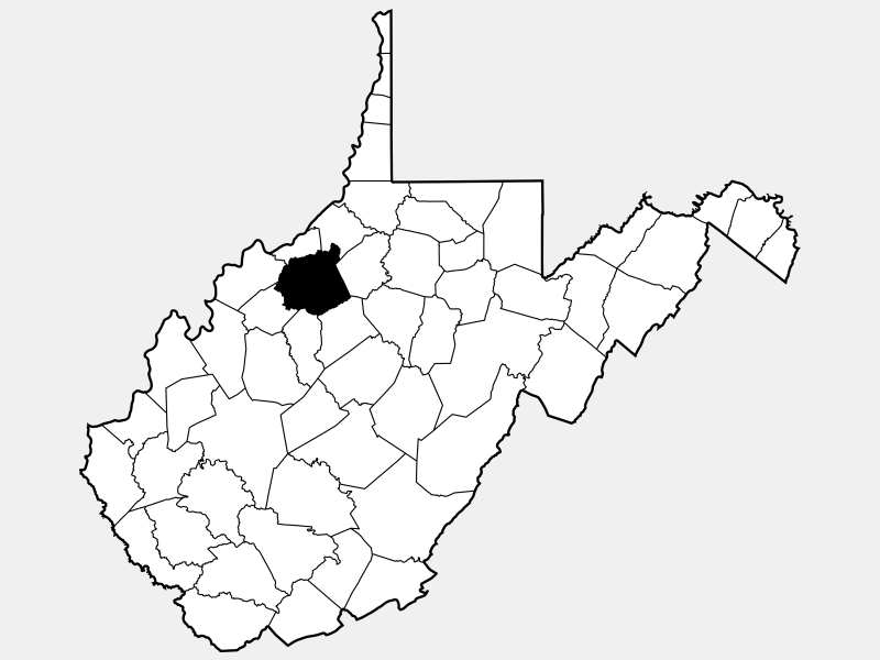 Ritchie County locator map