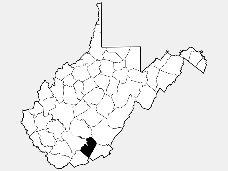 Summers County locator map