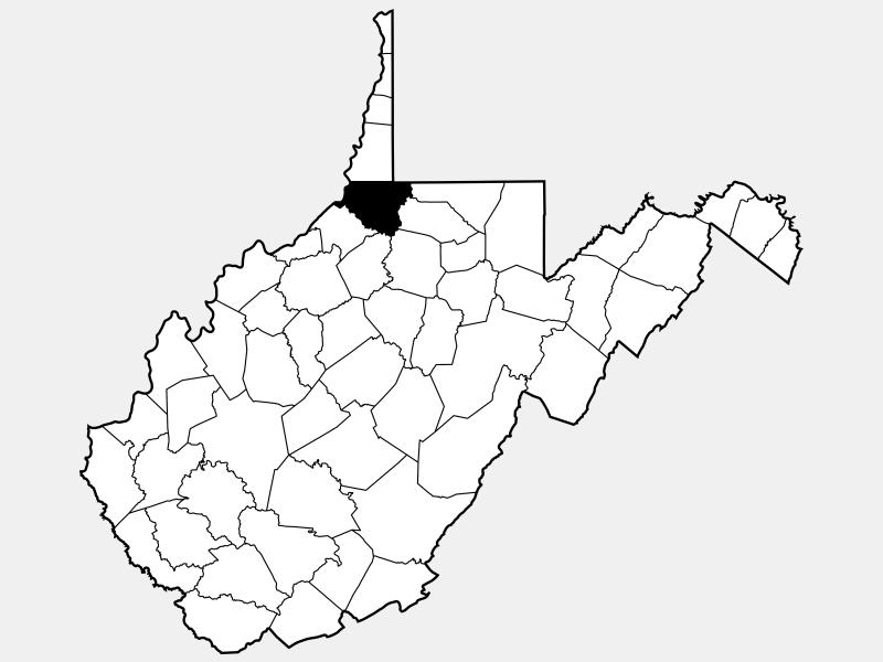 Wetzel County locator map