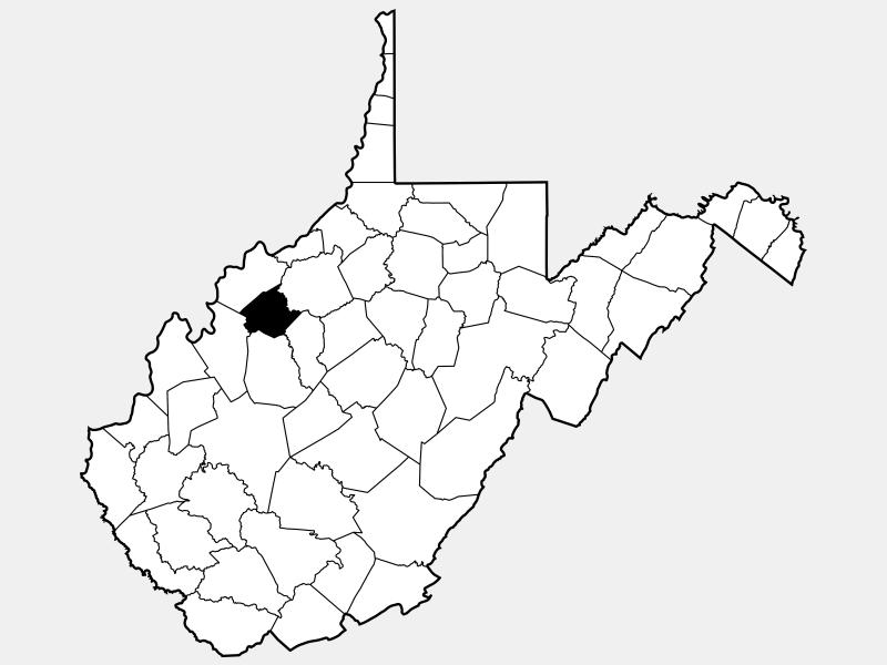 Wirt County locator map