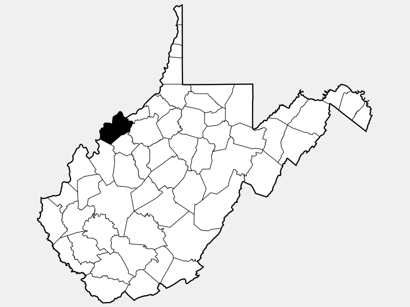 Wood County locator map
