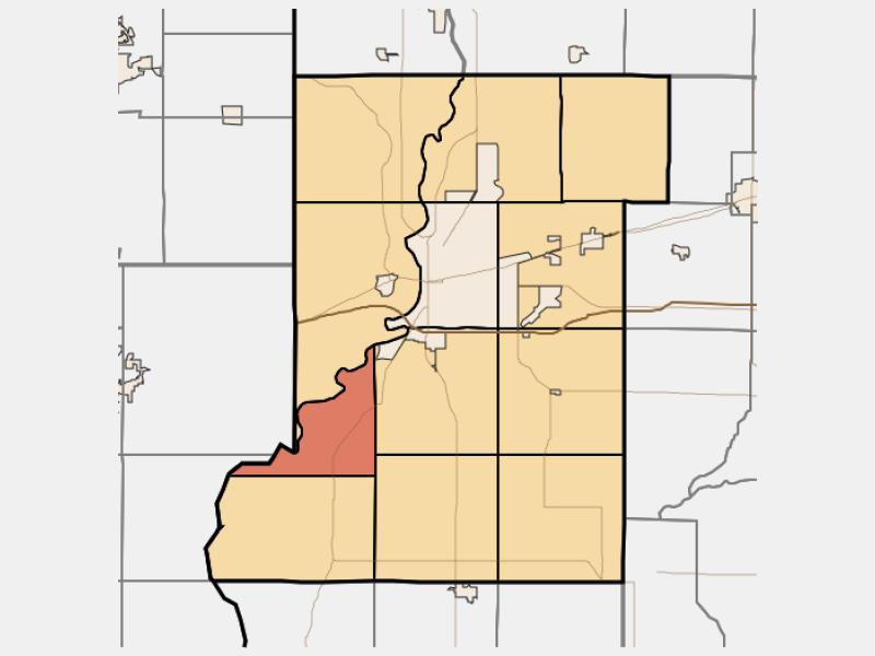 Prairieton locator map