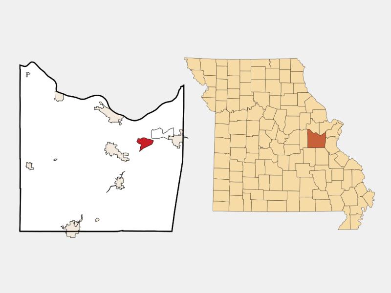 Villa Ridge locator map