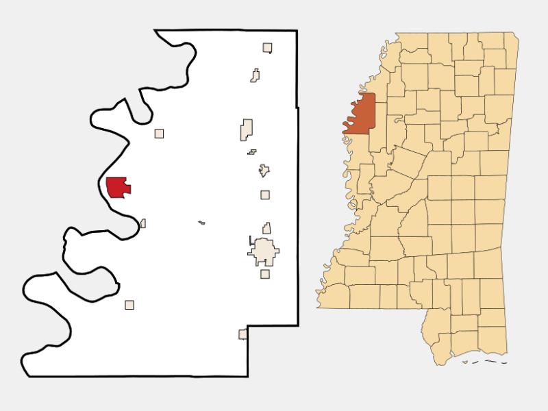 Rosedale locator map