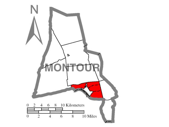 Mahoning locator map