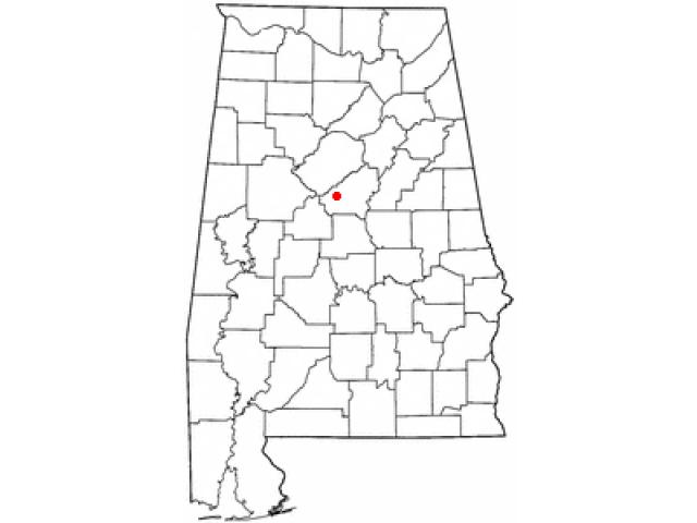 Alabaster locator map