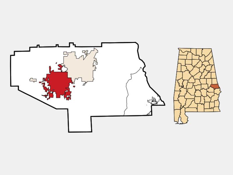 Auburn locator map