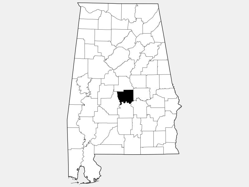 Autauga County locator map