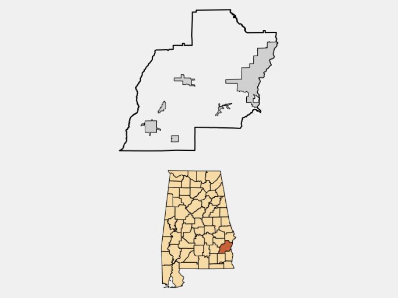 Baker Hill locator map