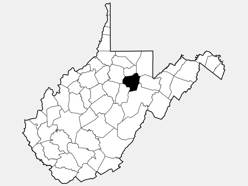 Barbour County locator map