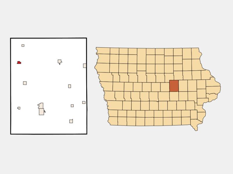 Gladbrook locator map