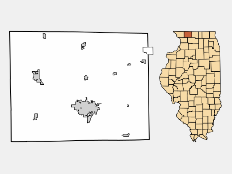 Lena locator map