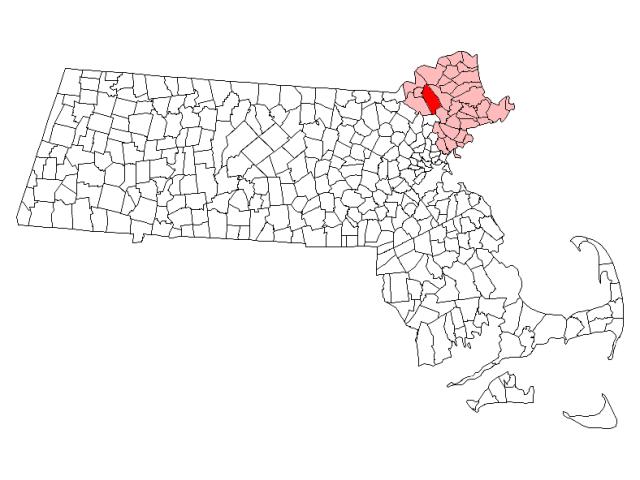 North Andover locator map