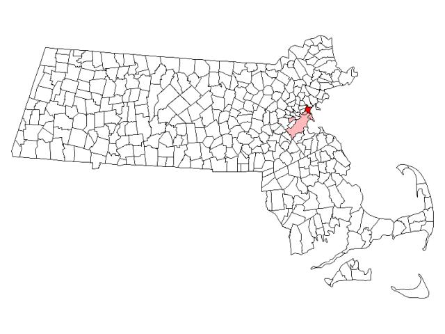 Revere locator map