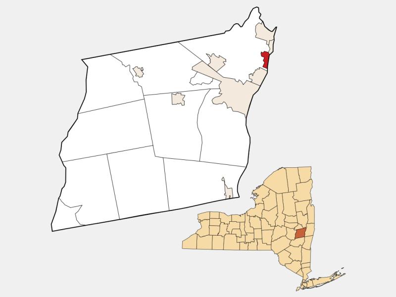Watervliet locator map