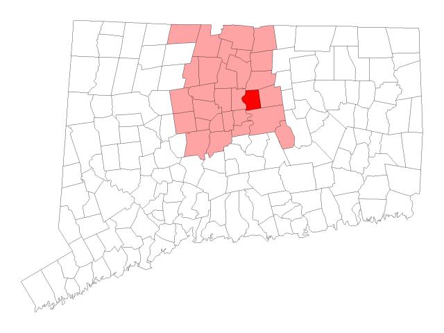 East Hartford location map