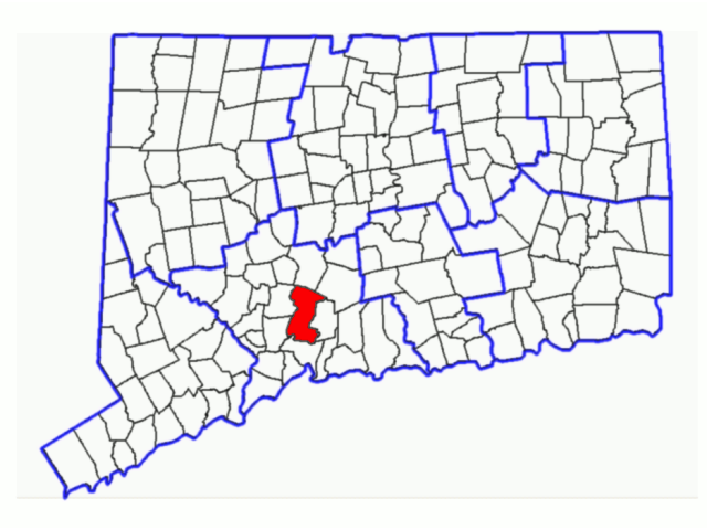 Hamden locator map
