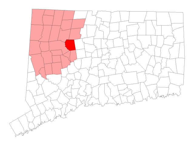 Harwinton locator map
