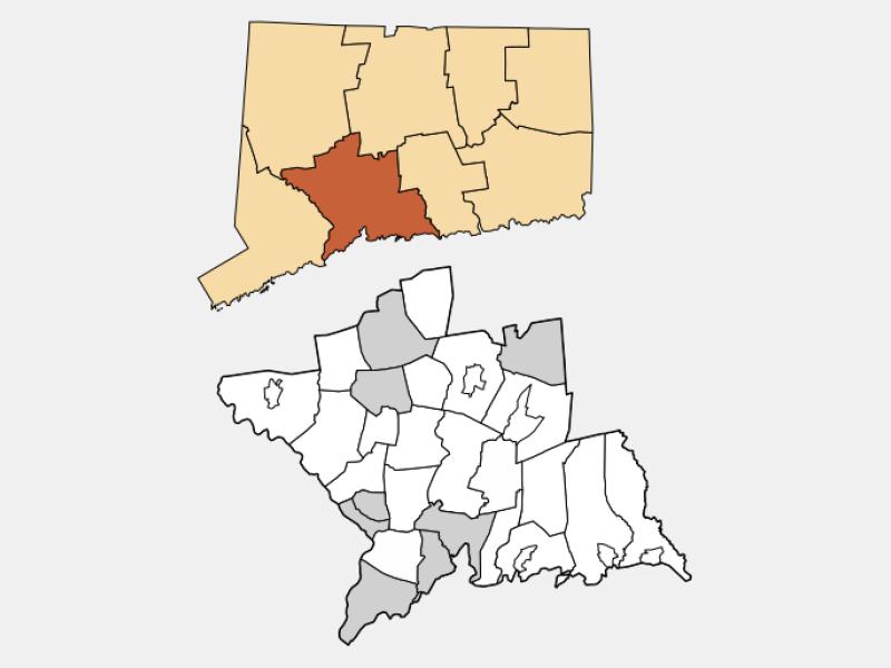 Meriden locator map