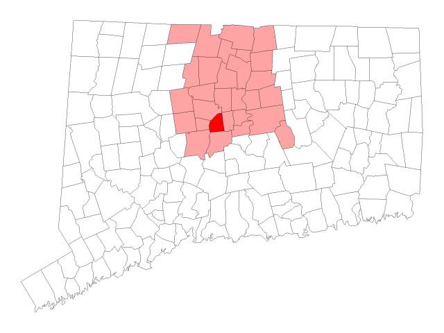 New Britain locator map