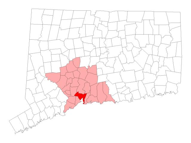 New Haven locator map