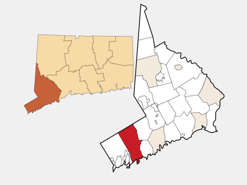 North Stamford locator map