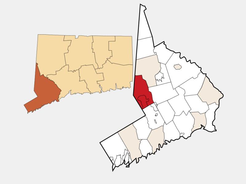 Ridgefield locator map